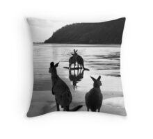 Kangaroos at Sunrise Throw Pillow