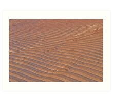 Patterns In The Sand Art Print