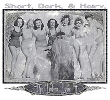 Short, Dark, & Hairy, The Ladies Love Itt! (version 2 for light backgrounds) by torg