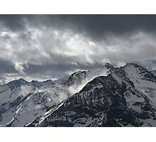Alps & Clouds Photographic Print