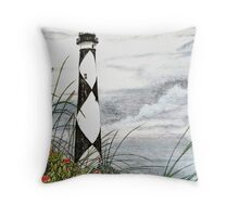 Cape Lookout Lighthouse Throw Pillow