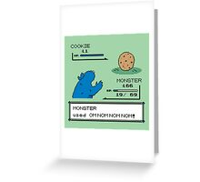 Cookiemon Greeting Card