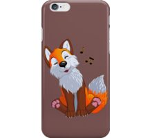 Singing, swinging foxy iPhone Case/Skin