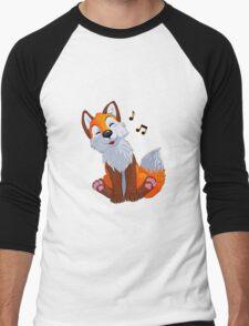 Singing, swinging foxy Men's Baseball ¾ T-Shirt