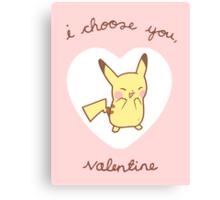 Pikachu Valentine V2 Canvas Print
