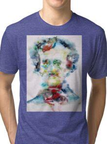 EDGAR ALLAN POE - watercolor portrait Tri-blend T-Shirt
