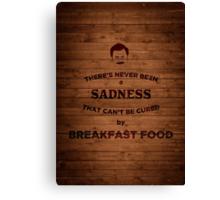 Breakfast Food Canvas Print