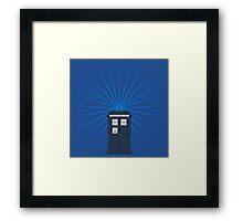 Tardis - Circular Light Effect Framed Print