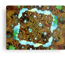 Fractal Wood Carving Metal Print