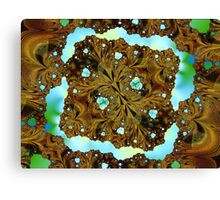 Fractal Wood Carving Canvas Print