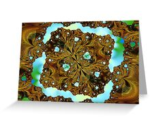 Fractal Wood Carving Greeting Card