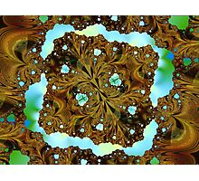Fractal Wood Carving Photographic Print