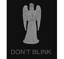 Weeping Angel -Don't Blink Photographic Print