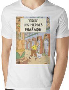LES HERBES DU PHARAON Mens V-Neck T-Shirt