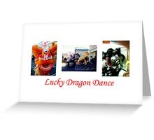 Lucky Dragon Dance Greeting Card