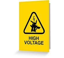 Pokemon Pikachu high voltage Greeting Card