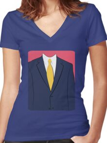Suit Women's Fitted V-Neck T-Shirt