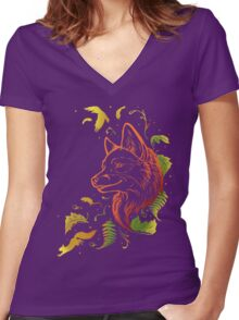 Autumn Song (rearanged) Women's Fitted V-Neck T-Shirt