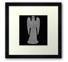 Single Weeping Angel Framed Print