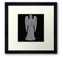 Single Weeping Angel Framed Print