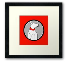 ENGLISH BULL TERRIER CUTE PORTRAIT Framed Print