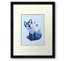 Blue singing, swinging foxy Framed Print