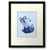 Blue singing, swinging foxy Framed Print