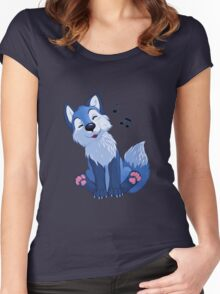 Blue singing, swinging foxy Women's Fitted Scoop T-Shirt