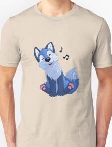 Blue singing, swinging foxy T-Shirt