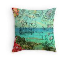 Bermuda and The Sea Venture Throw Pillow