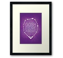 Gosh I Love Arrows Framed Print