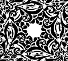 lace circle_black Sticker