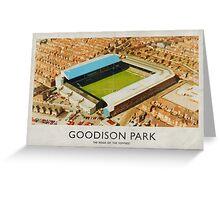 Vintage Football Grounds - Goodison Park (Everton FC) Greeting Card