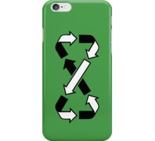 Mobius Says Recycle (Black design) iPhone Case/Skin