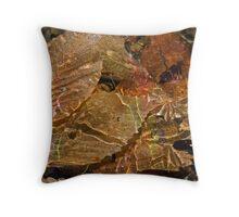 Electrified Leaves Throw Pillow