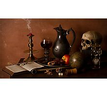 Vanitas With Port and Walnuts Photographic Print