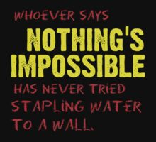 Nothing's Impossible.... Eh? by CrazyDistortion
