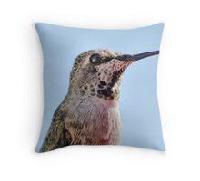 Portrait Of A Hummingbird Throw Pillow