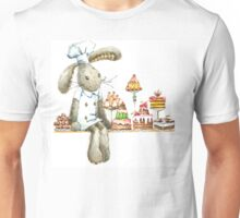 rabbit sweet baker. illustration, watercolor, Unisex T-Shirt