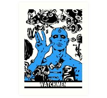 Dr. Manhattan White Art Print