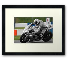 Chris Walker - Rizla Suzuki 2010 Framed Print