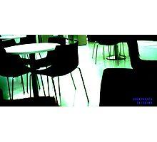Black Chairs Photographic Print