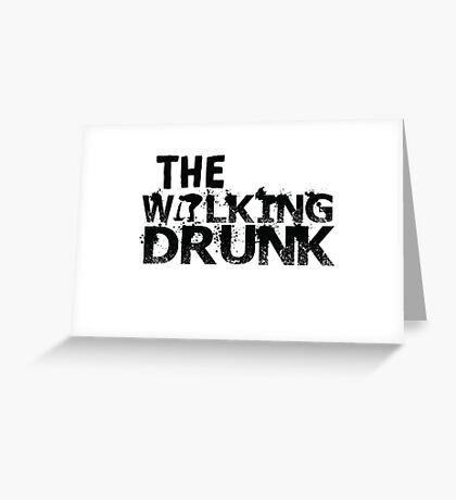 The Walking Drunk logo Greeting Card