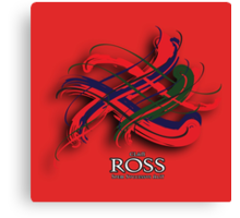 Ross Tartan Twist Canvas Print
