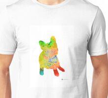 French bulldog images watercolor art print painting Unisex T-Shirt
