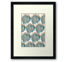 Cabbage Roses Framed Print