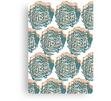 Cabbage Roses Canvas Print