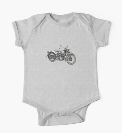 1941 Indian Scout 741 Motorcycle One Piece - Short Sleeve