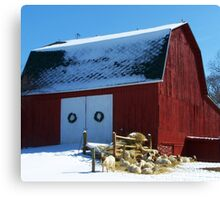 Out on the Farm Canvas Print