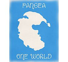 Pangea World Map - Blue Photographic Print